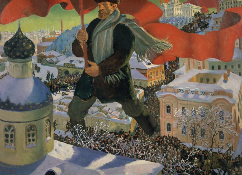 Revolution: Russian Art 1917-1932 -  Boris Mikailovich Kustodiev, Bolshevik, 1920 Photo (c) State Tretyakov Gallery