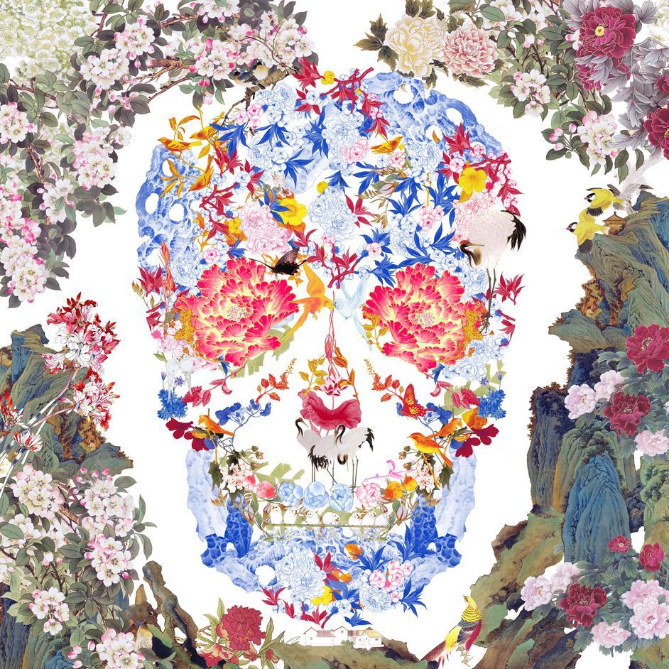 Affordable Art Fair Battersea Spring 2017 - Eyestorm, Jacky Tsai, Chinese Floral Skull