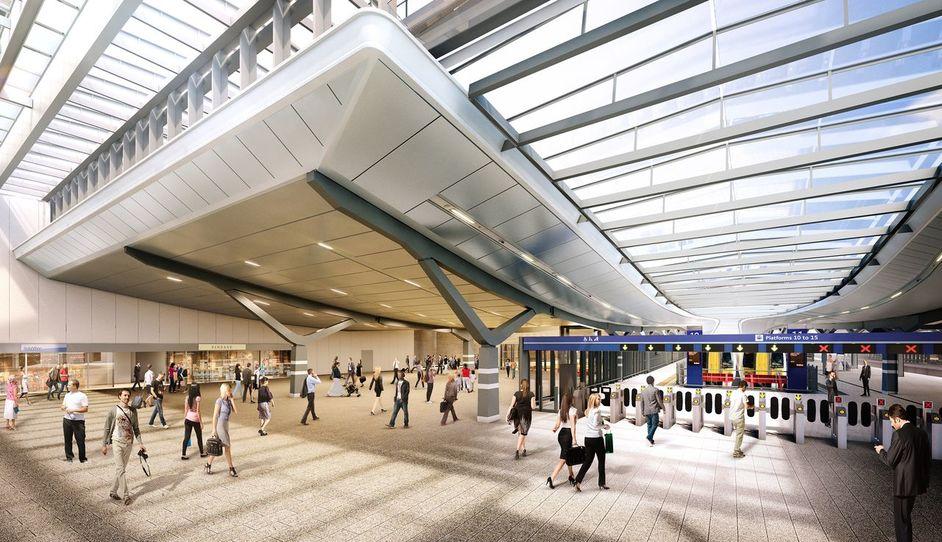 London Bridge Railway Station - Shard internal concourse
