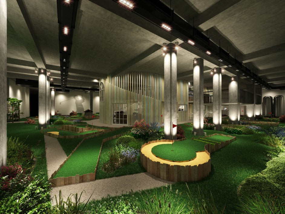 Swingers - Swingers Golf course and clubhouse