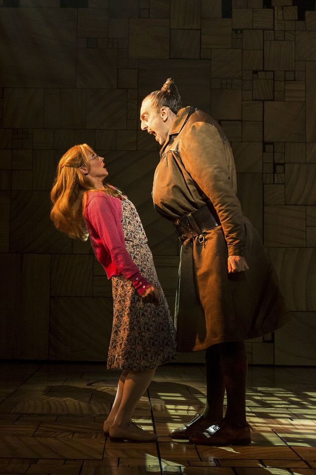 Matilda The Musical - Miria Parvin (Miss Honey) and Craige Els (Miss Trunchbull) Photo Manuel Harlan