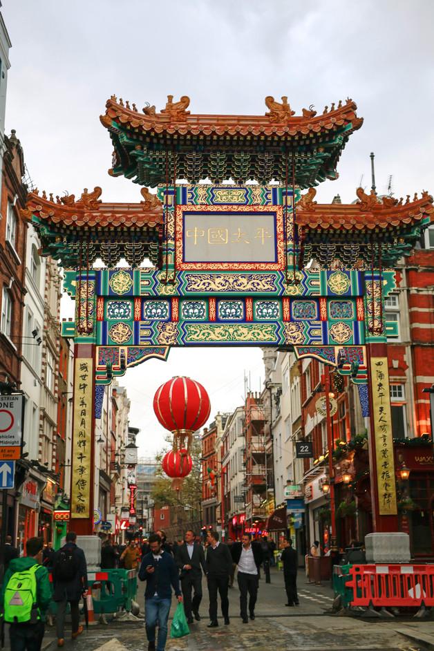 Chinatown - Chinese gate, Wardour Street. Photo www.chinatownlondon.org and www.lccauk.com