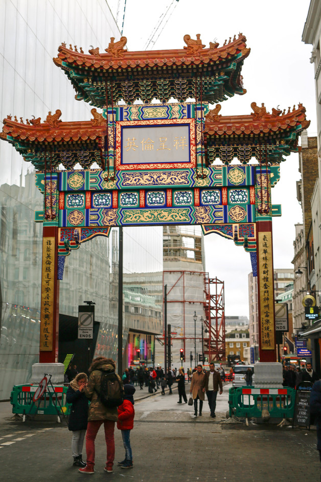 Chinatown - Chinese gate, Wardour Street. Photo www.chinatownlondon.org and www.lccauk.com