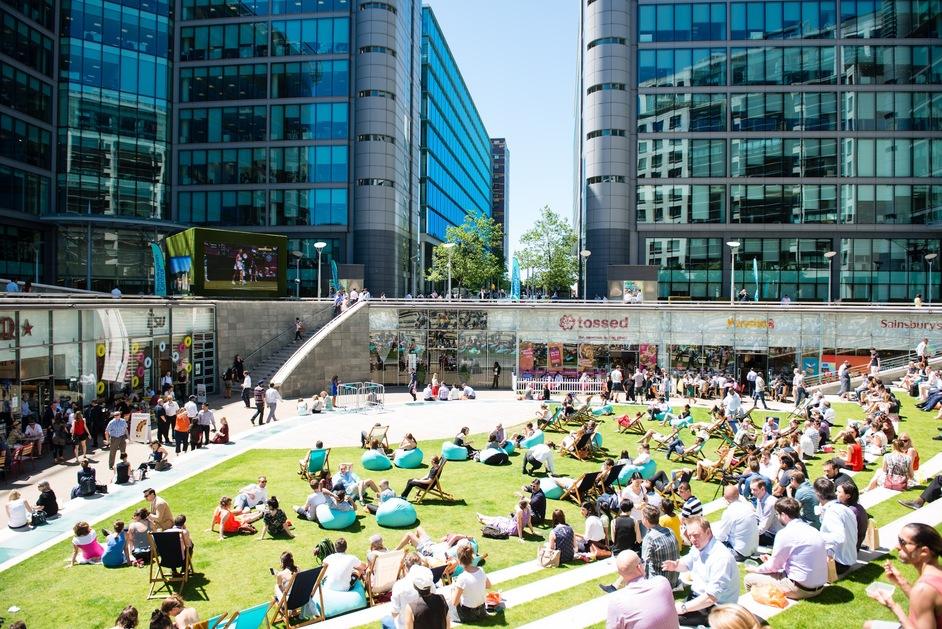 Outdoor Film Screening Paddington Central At Paddington