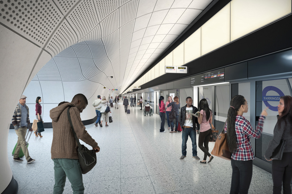 Farringdon Tube Station - Farringdon station - proposed platform, 2018