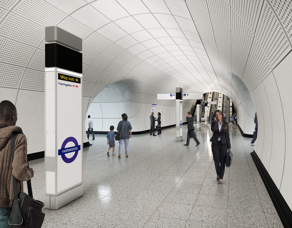 Farringdon Tube Station - Farringdon station - proposed platform level concourse, 2018