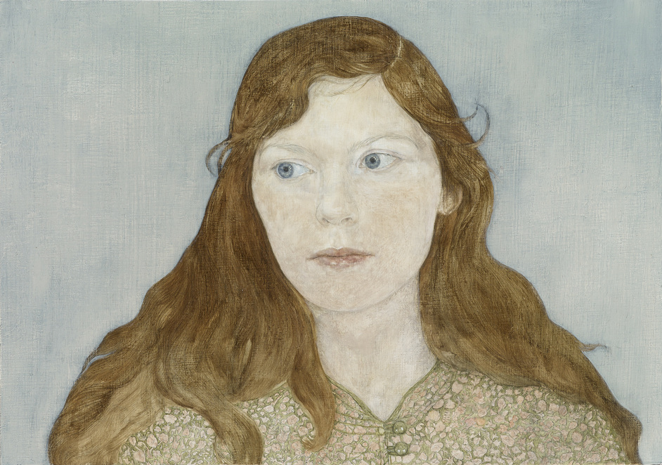 BP Portrait Award 2016 - Girl in a Liberty Dress by Clara Drummond (c) Clara Drummond