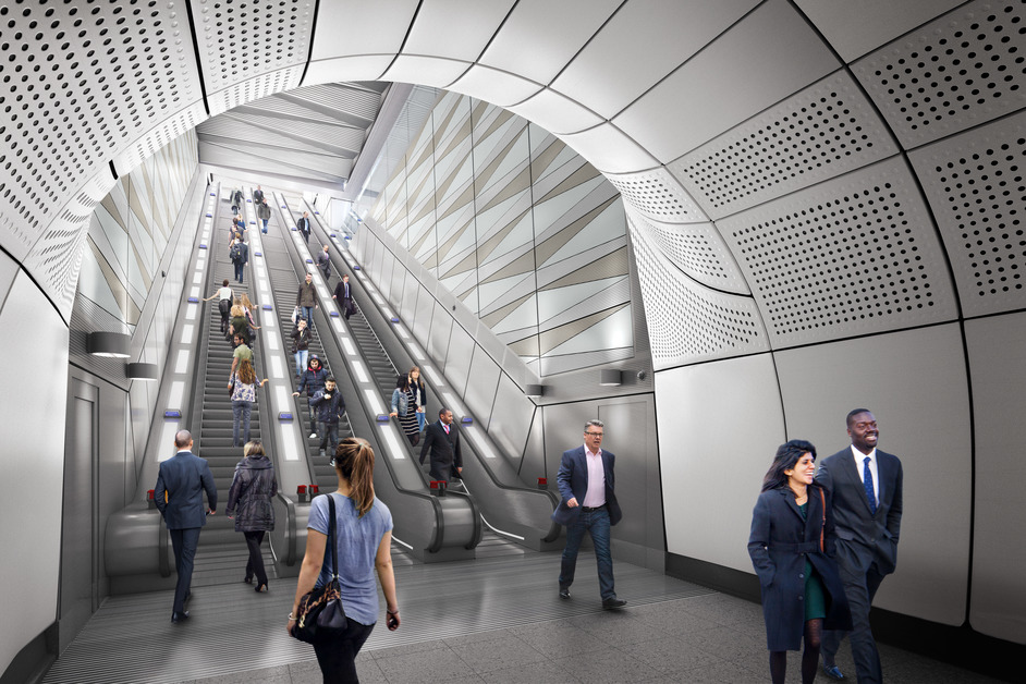 Liverpool Street Tube Station - Liverpool Street station - proposed escalator at Moorgate ticket hall, 2018