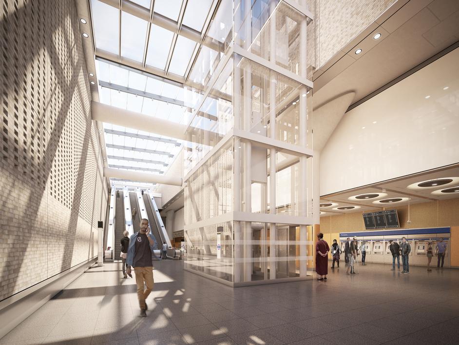 Paddington Tube Station - Paddington Station - Crossrail ticket hall, 2018