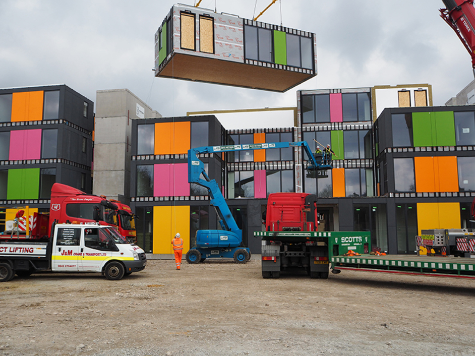 London Festival of Architecture - PLACE Ladywell, temporary homes for 24 families, Ladywell Leisure Centre, Lewisham