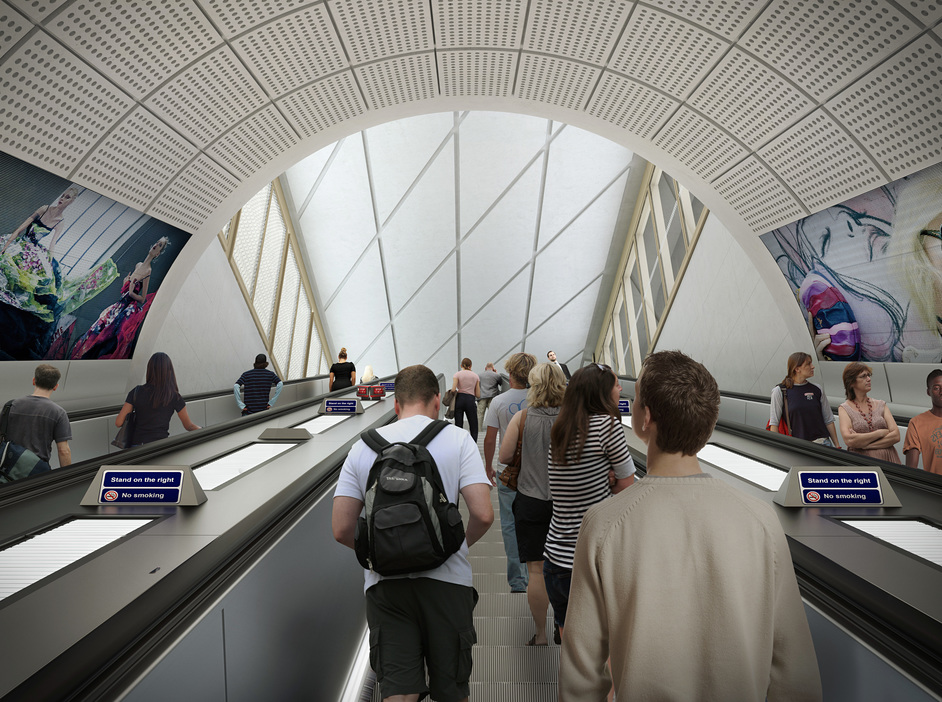 Farringdon Tube Station - Farringdon station - proposed escalator to Cowcross Street ticket hall, 2018