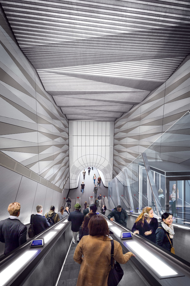 Liverpool Street Tube Station - Liverpool Street station - proposed escalator with lift from Broadgate ticket hall