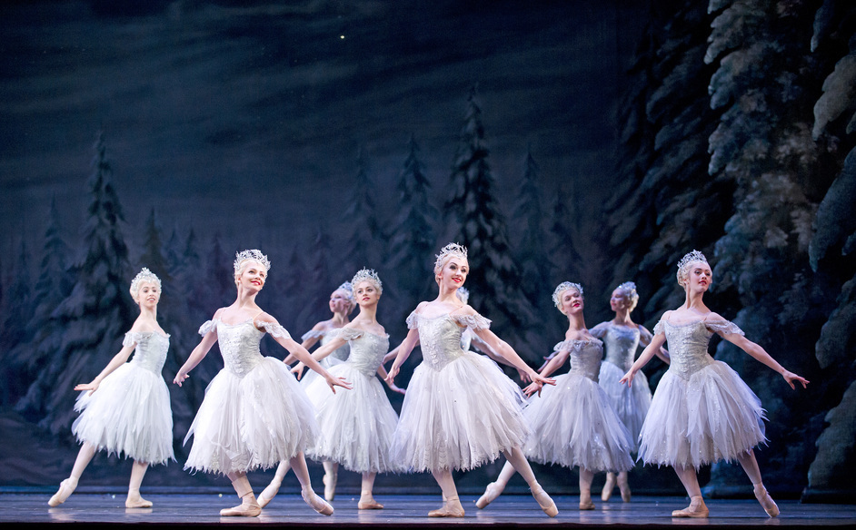 Royal Ballet Live: The Nutcracker - Artists of The Royal Ballet as the Snowflakes (c)ROH/Tristram Kenton, 2013