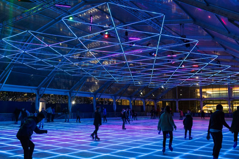 LUMINOCITY: Ice Rink Canary Wharf
