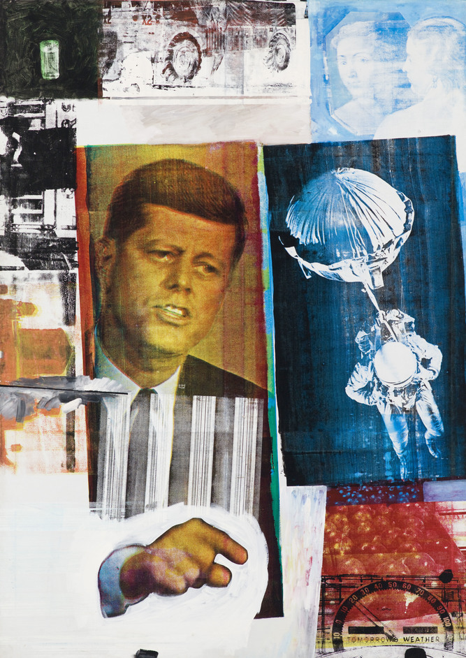 Robert Rauschenberg - Robert Rauschenberg, Retroactive II, 1963. Photo Nathan Keay (c) MCA Chicago