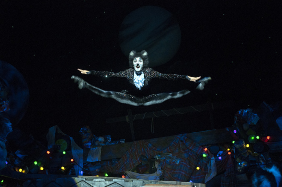 Cats: The Musical - Shiv Rabheru (Mistoffelees), Cats UK Tour 2016, photo by Alessandro Pinna