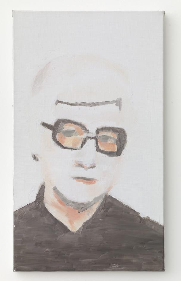 Luc Tuymans: Glasses - Portrait  by Luc Tuymans, 2000. Courtesy David Zwirner, New York/London
