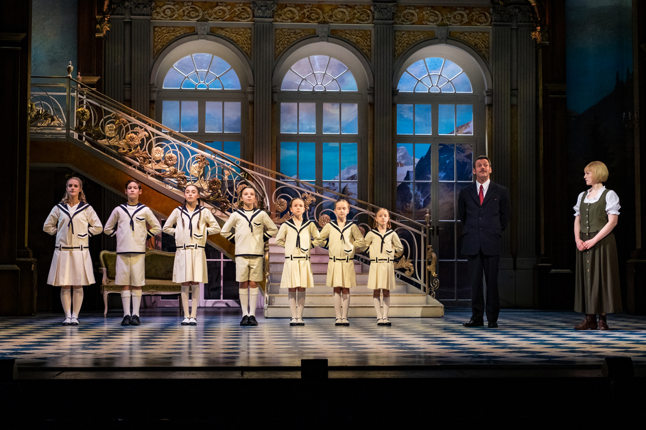 The Sound of Music - Gray O'Brien as Captain Von Trapp and Lucy O'Byrne as Maria. Photo Mark Yeoman
