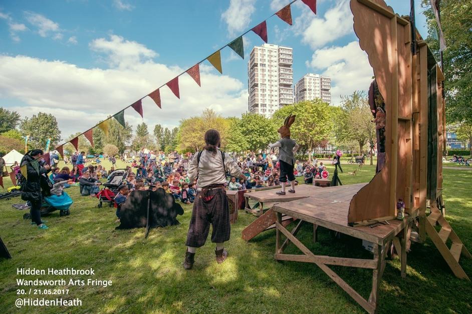 Wandsworth Arts Fringe - Hidden Heathbrook, Outdoor Arts Festival for the family, 20 & 21 May 2017