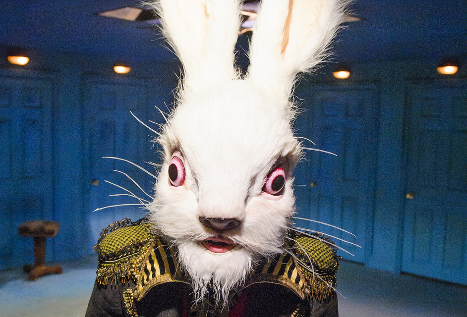 Alice's Adventures Underground - Tom Syms (White Rabbit). Photo by Tristram Kenton
