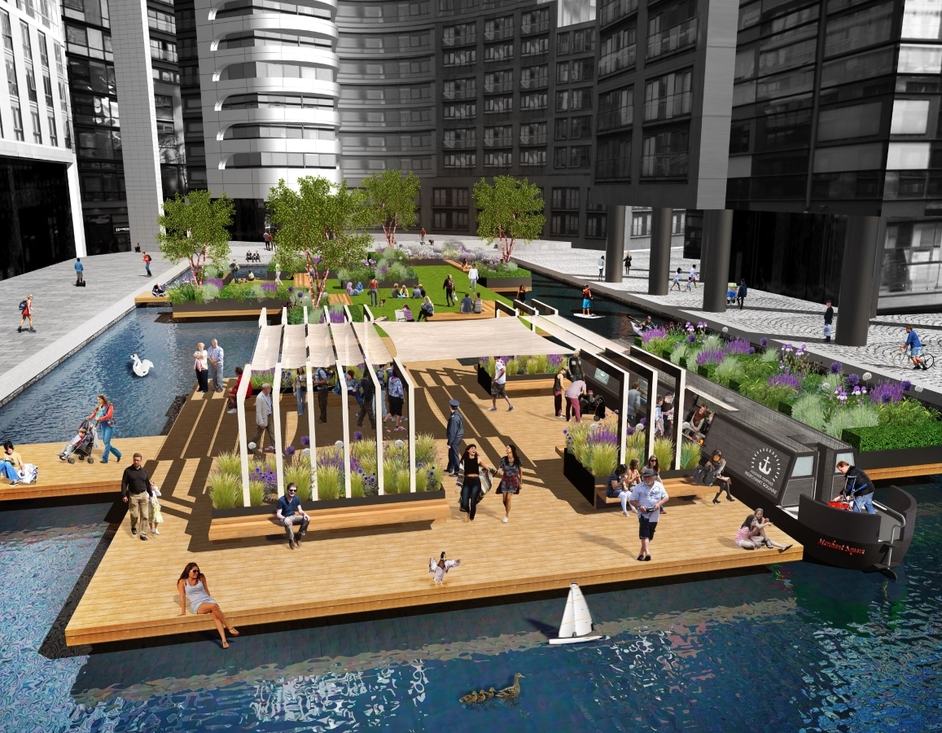 Floating Pocket Park - Floating Pocket Park, Paddington Basin