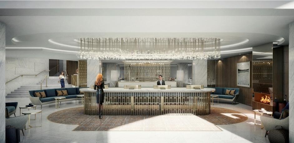 Royal Lancaster London - Royal Lancaster London Lobby (CGI)