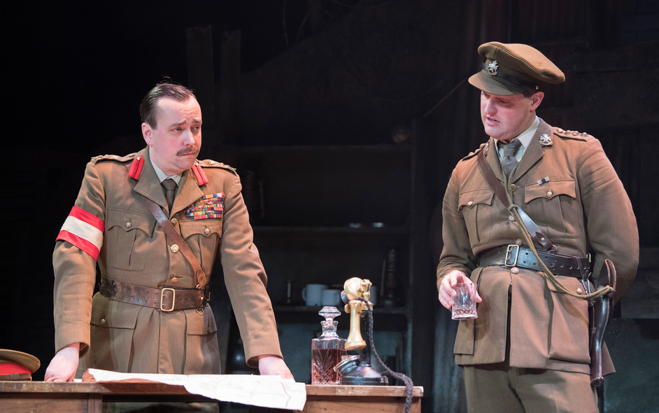 The Wipers Times - Dan Tetsell and James Dutton, previous production of The Wipers Times. Photograph by Alastair Muir