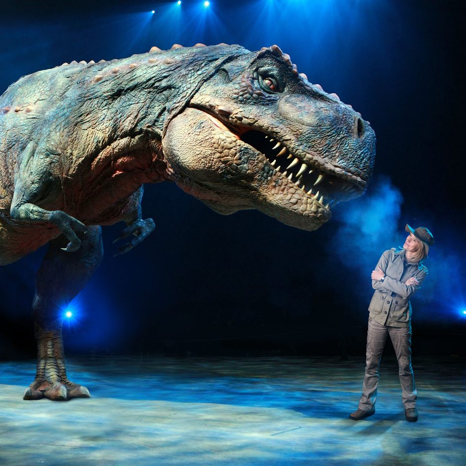 Walking with Dinosaurs - Michaela Strachan and T-Rex, Walking with Dinosaurs