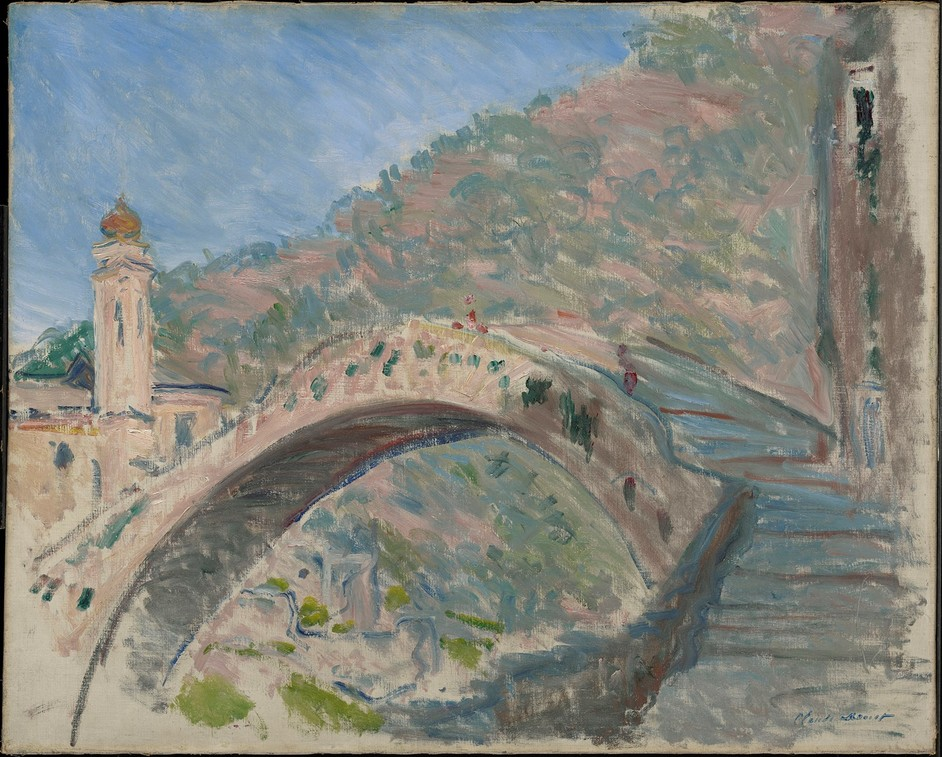 The Credit Suisse Exhibition: Monet & Architecture - Claude Monet, Dolceacqua, la vieux pont sur la Nervia, 1884 © Sterling and Francine Clark Art Institute, Williamstown, Massachusetts, USA (photo by Michael Agee)