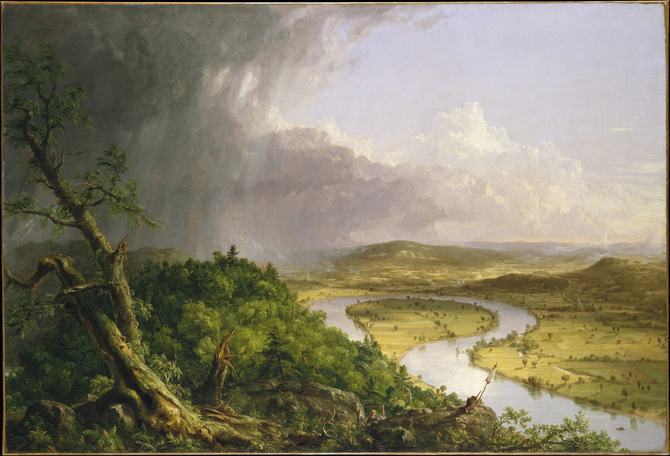 Thomas Cole's Journey - Thomas Cole, View from Mount Holyoke, Northampton, Massachusetts, after a Thunderstorm - The Oxbow, 1836 © The Metropolitan Museum of Art, New York