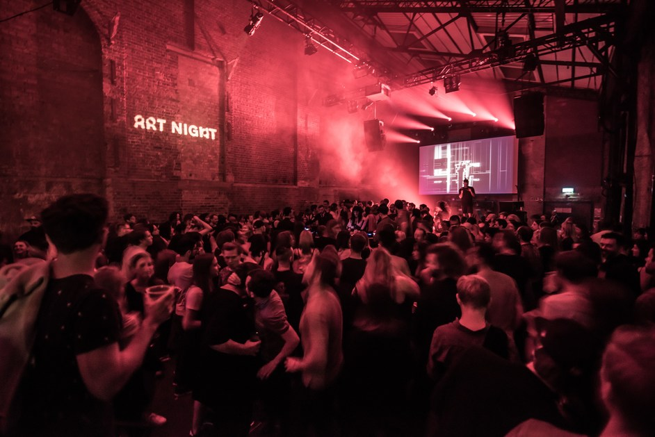 Art Night London 2018 - Club Night with Alva Noto and Boiler Room at Village Underground. Courtesy the artist and Art Night 2017. Photo by Neil Juggins