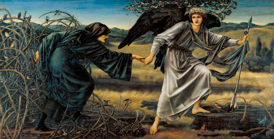 Burne-Jones - BURNE-JONES Sir Edward Burne-Jones Love and the Pilgrim 1896-7 Tate