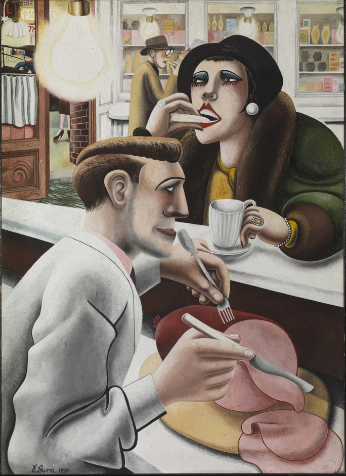 Aftermath: Art In The Wake Of World War One - AFTERMATH: ART IN THE WAKE OF WORLD WAR ONE Edward Burra The Snack Bar 1930 Tate © The estate of Edward Burra, courtesy Lefevre Fine Art, London