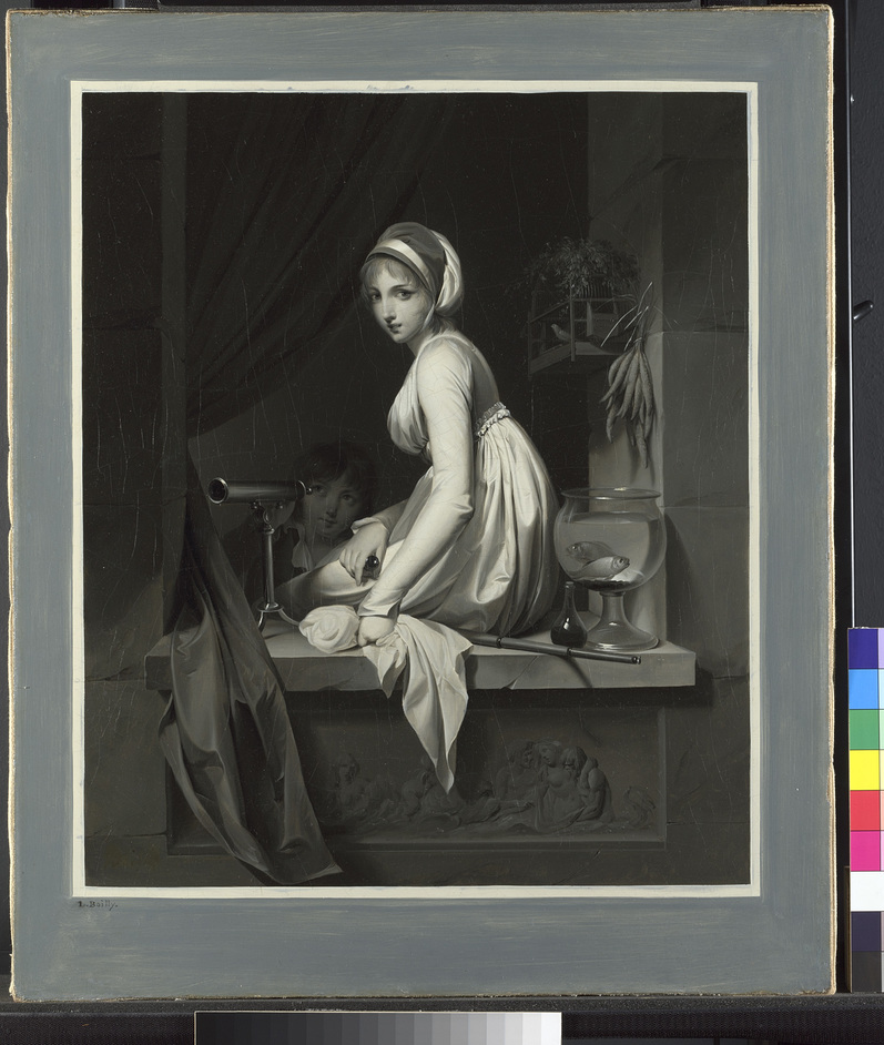 Monochrome: Painting in Black and White - Louis-Léopold Boilly A Girl at a Window, After 1799 (c)The National Gallery, London