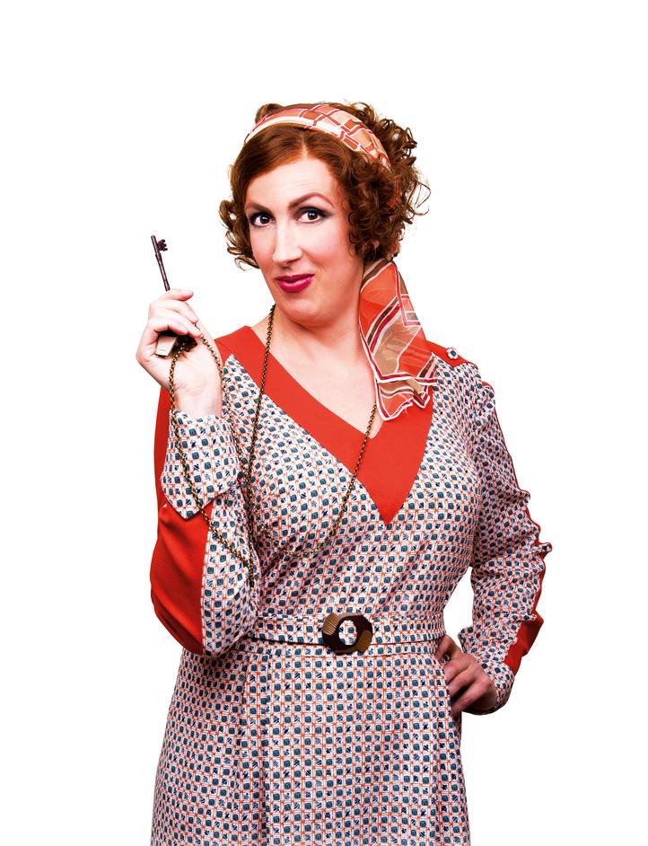 Annie - Miranda Hart (Miss Hannigan), photo by Matt Crockett