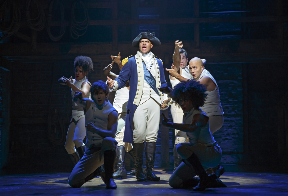 Hamilton - Hamilton Broadway, Christopher Jackson as George Washington. Photo Joan Marcus