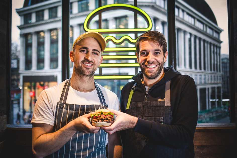 Shake Shack Canary Wharf - Limited edition ShackBerber burger made in collaboration with  Berber and Q