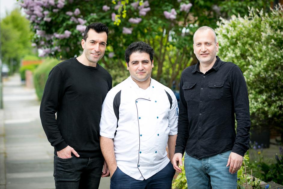 VBurger Camden - (L-R) Reuven Cohen, Yossi Edri, Amir Wayman - VBurger partners
