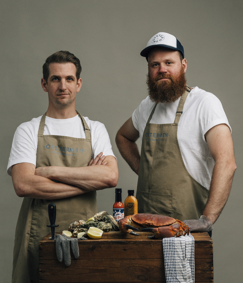 The Oystermen Seafood Bar and Kitchen - The Oystermen Seafood Bar & Kitchen co-founders Matt Lovell and Rob Hampton. Photo: Greg Funnell
