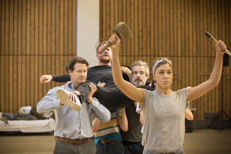 Common - Cush Jumbo in rehearsals of Common at the National Theatre, 2017