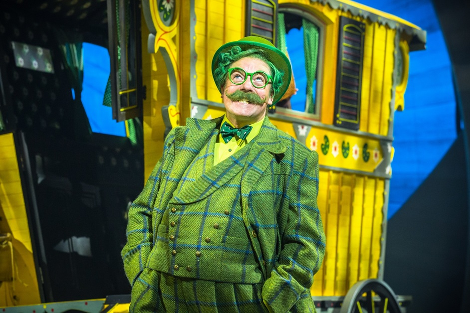 The Wind in the Willows - Rufus Hound as Mr Toad. Photo by Marc Brenner. Jamie Hendry Productions