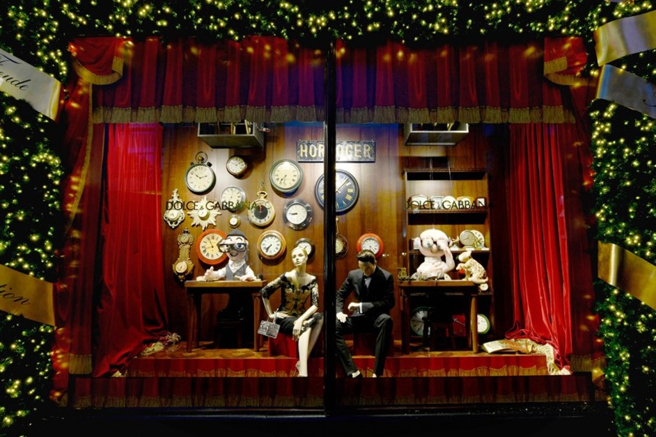 Harrods Christmas Windows: Dolce & Gabbana