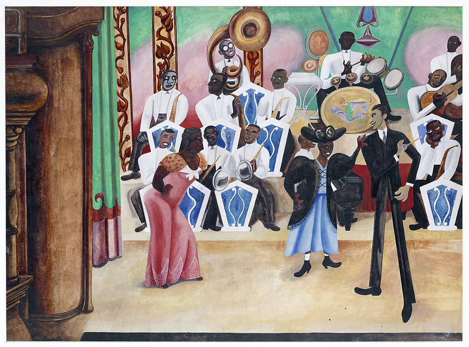 Rhythm & Reaction: The Age of Jazz in Britain - Edward Burra, The Band, 1934