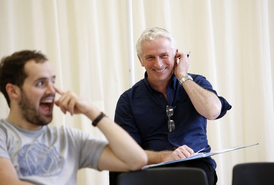 The Open House - Ralph Davis and Crispin Letts in rehearsal, photo by Simon Annand