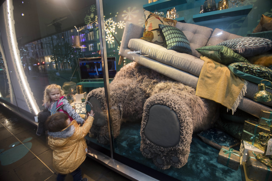 John Lewis Christmas: Moz The Monster's House - John Lewis Oxford Street reveals world's first farting and snoring windows