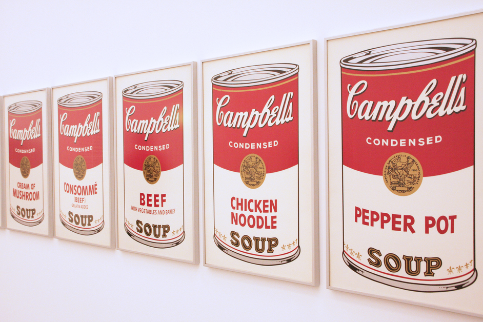 Warhol Croydon - ?Campbell?s Soup? by Andy Warhol. Licensed by Dreamtime
