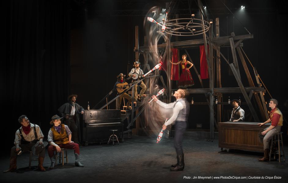 Cirque Eloize: Saloon - Photo by Jim Mneymneh, courtesy of Cirque Eloize
