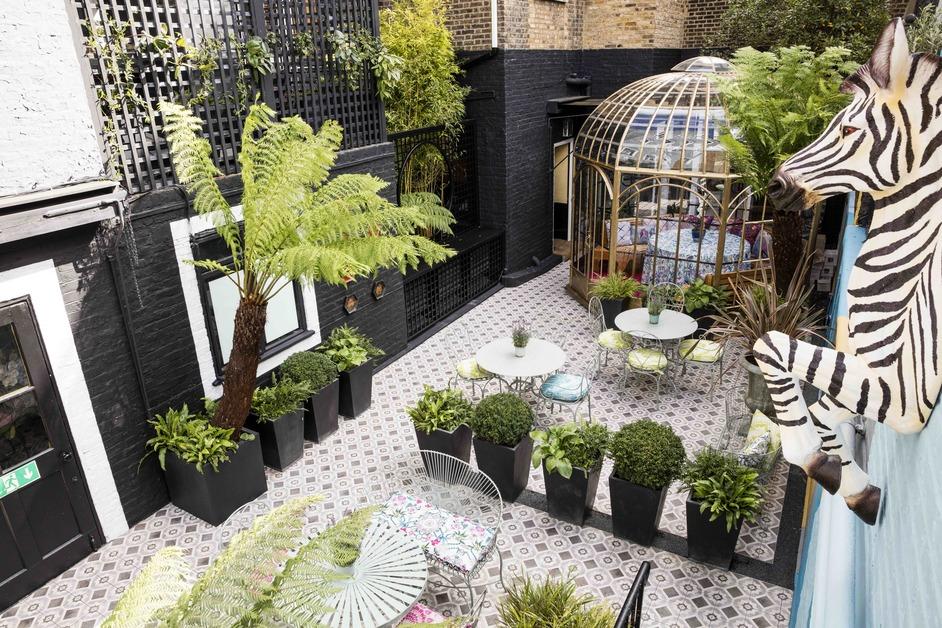 Blakes Hotel - Blakes Hotel courtyard by Matthew Williamson
