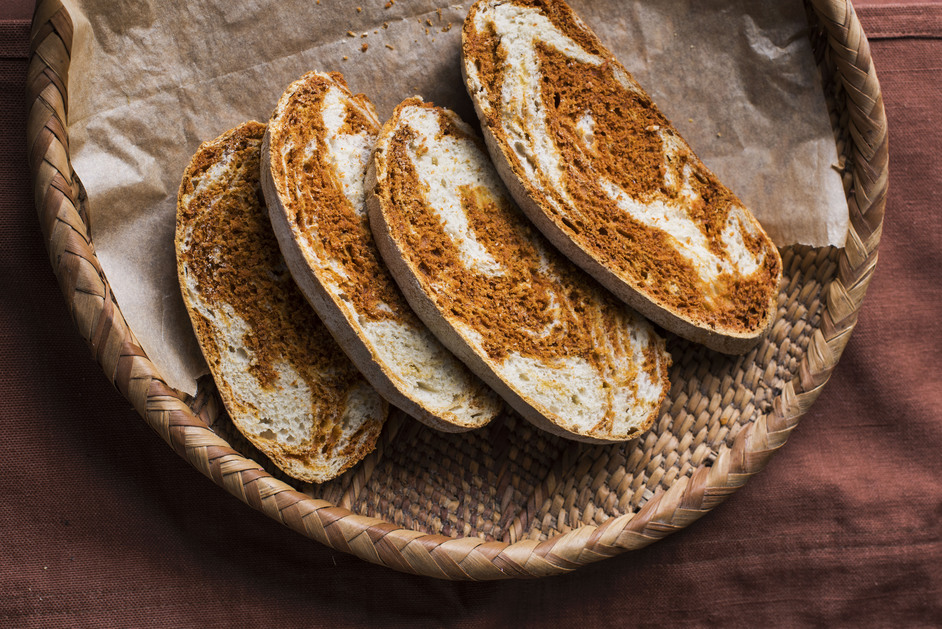 Andina Panaderia - Andina Panaderia, Marbled Annatto Loaf