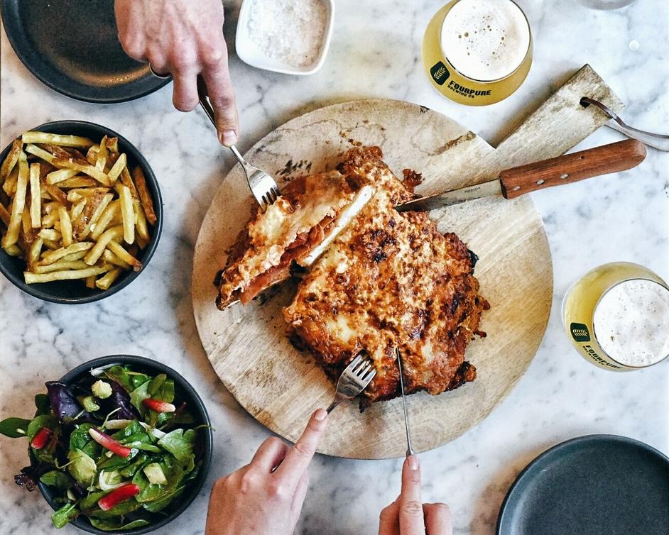 Scarlett Green - Scarlett Green Aussie Dinner Giant Chicken Parmigiana. Photo: Leyla Kazim